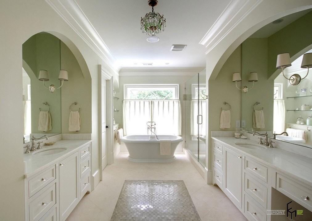 Арки в ванной комнате