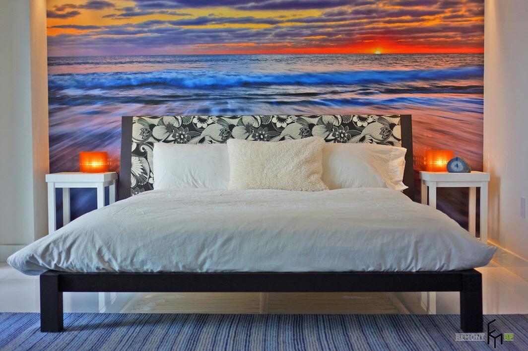 Закат и море в спальне