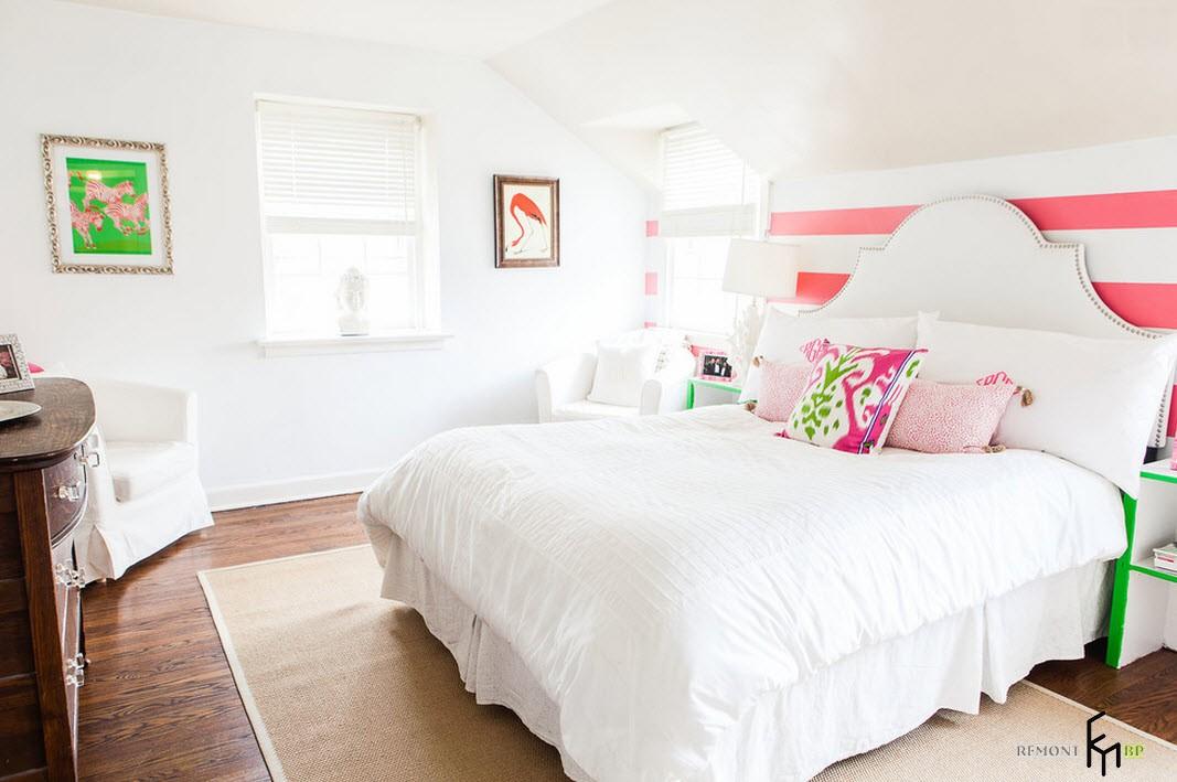 Ослепительно-яркая спальня