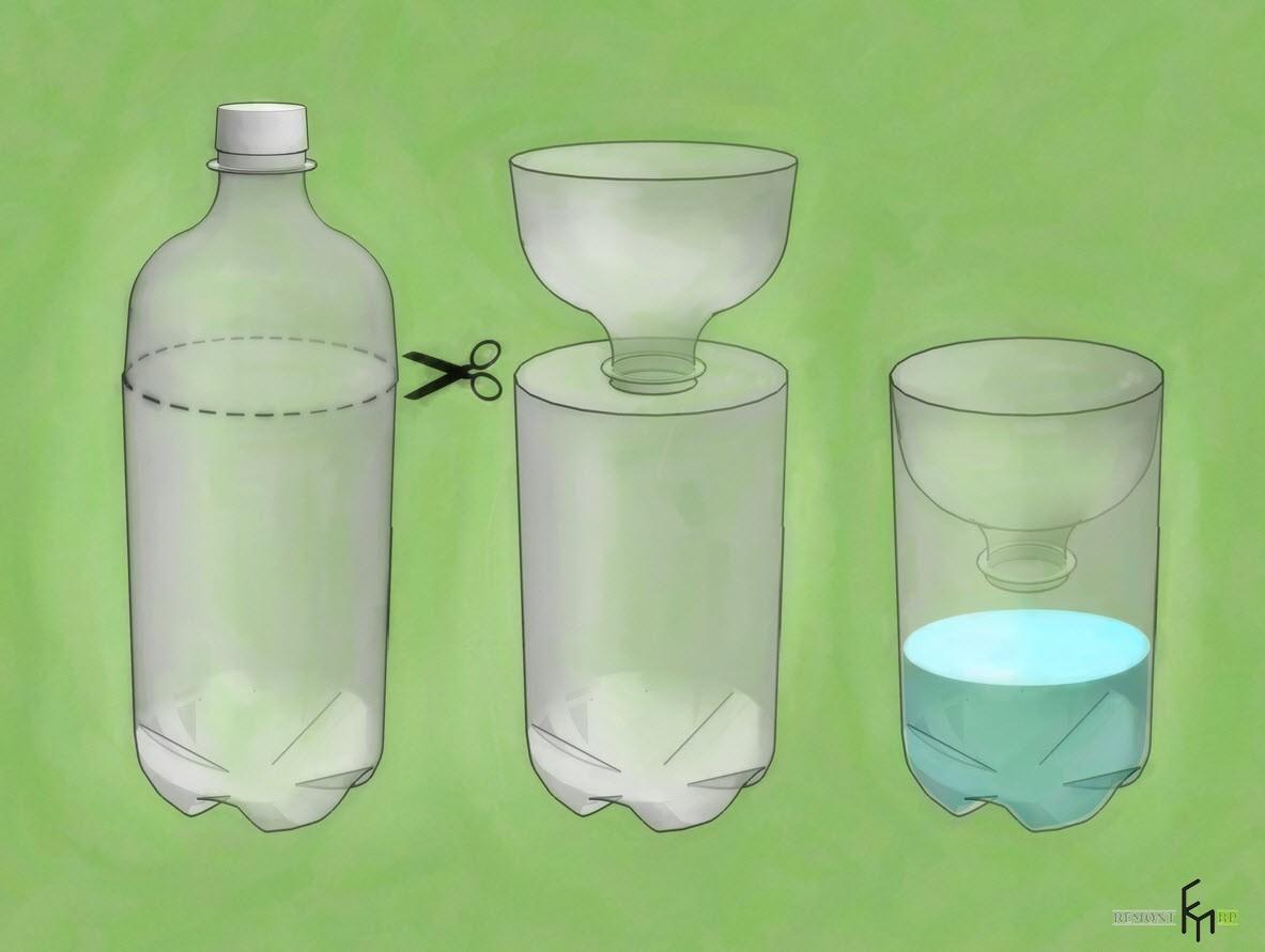 Ловушка из пластиковой бутылки вполне доступна каждому