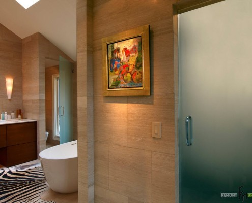 Матовое стекло в ванной
