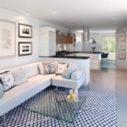 Сочетание кухни и гостиной в одном помещении