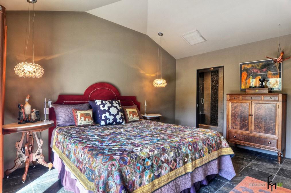 Эклектичная спальня