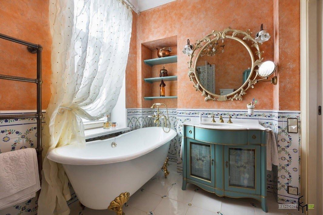 Колоритный интерьер ванной