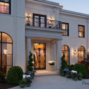 Дом из белого кирпича