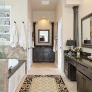 Коврик в ванной комнате: 30 стильных дизайнерских решений