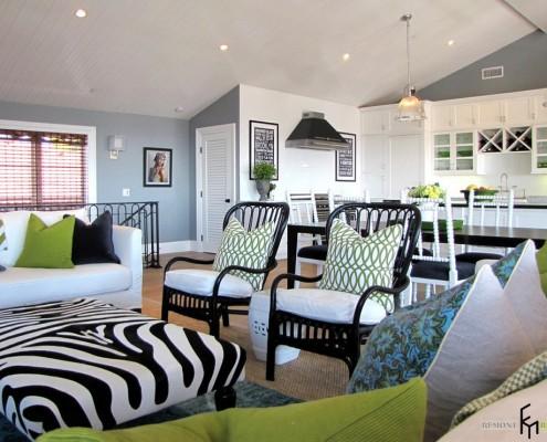 Мебель в гостиной в морском стиле