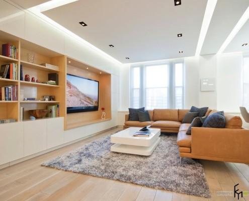 Подвесной гипсокартонный и угловой диван