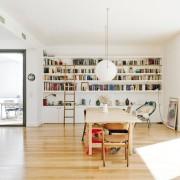 Пейзаж как элемент интерьера домашней библиотеки