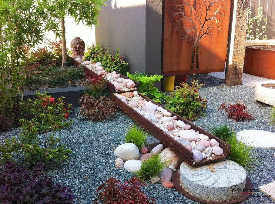 Как сделать сад камней своими руками в саду