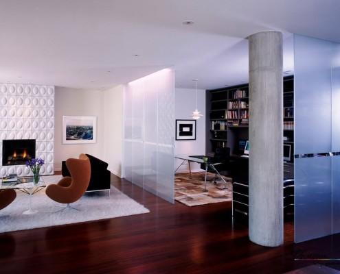 Квартира со стеклянными перегородками