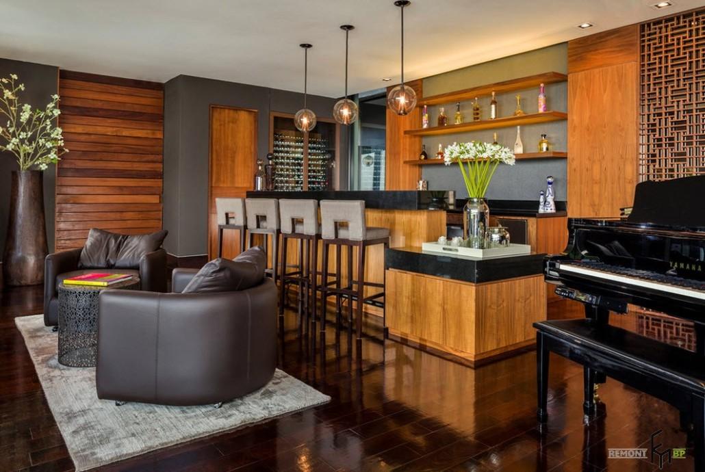 Барная стойка в квартире дизайн