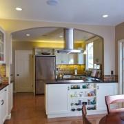 Кухонная мебель для зонирования