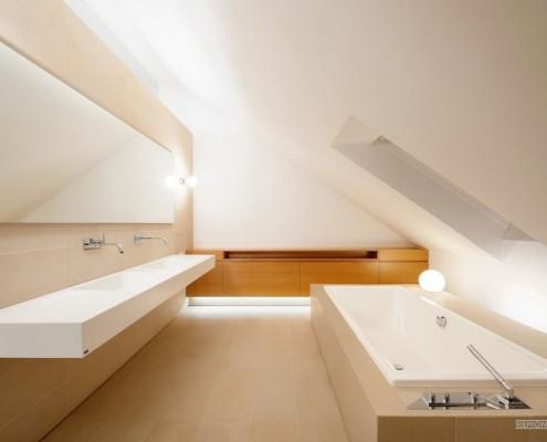 Ванная комната под крышей
