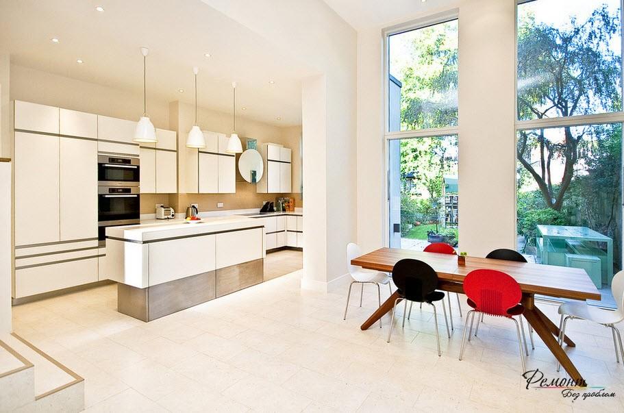 Панорамная кухня