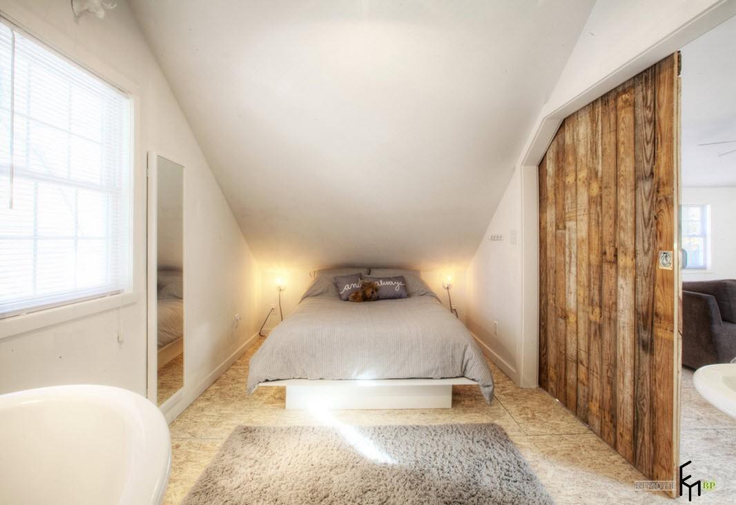 Стиль Хай-тек в спальной комнате