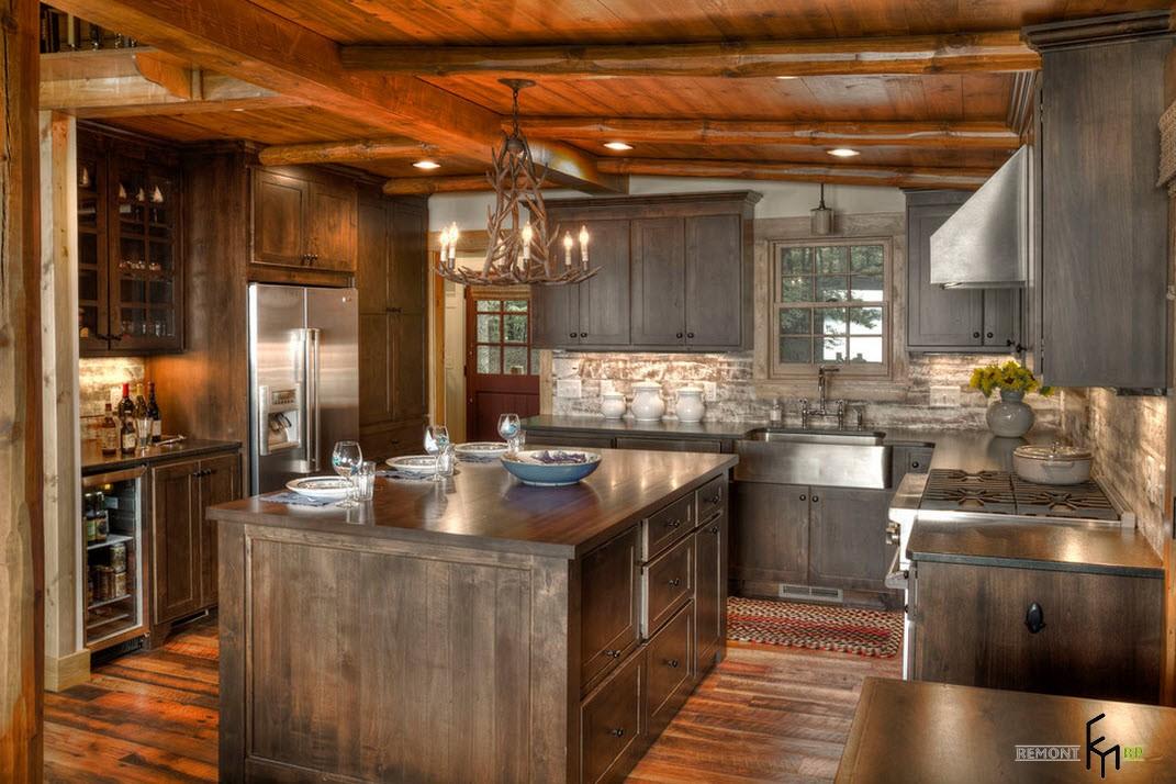Деревянный кухонный отсров