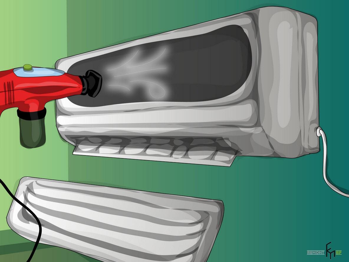 Третий способ чистки кондиционера, второй шаг