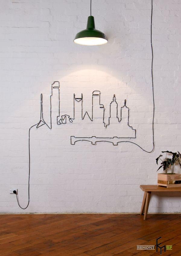 Чёрный кабель от лампы