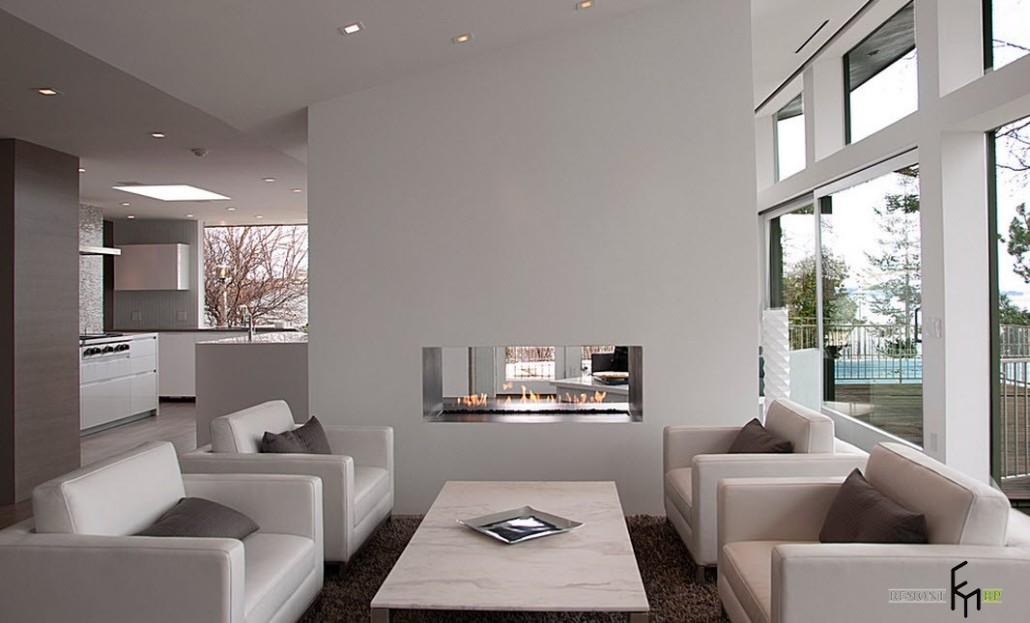 Встроенный камин в интерьере: декоративные и электрические камины а фото