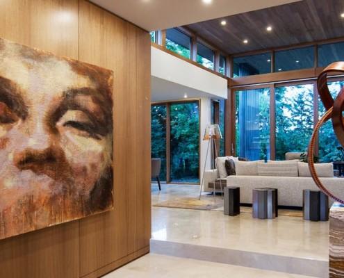 Детали оформления помещения в стиле модерн