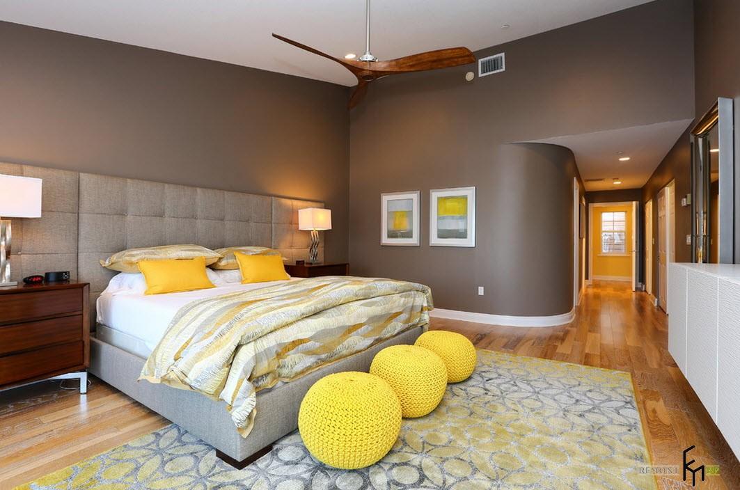 Яркие краски в спальной комнате