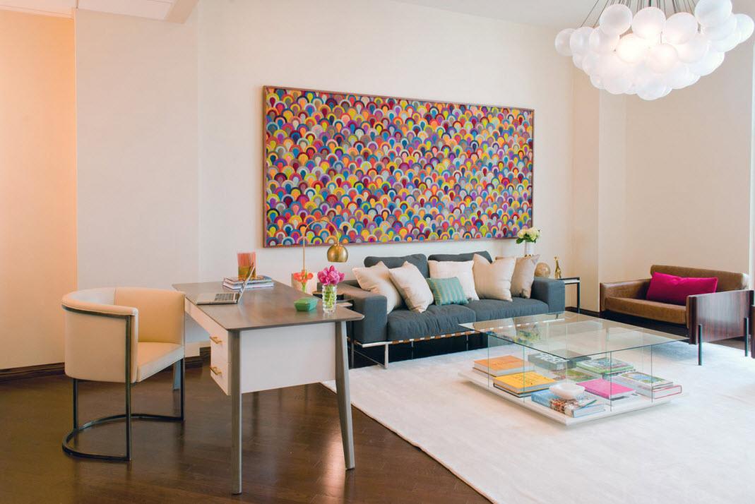 Яркие цвета в интерьере кабинета