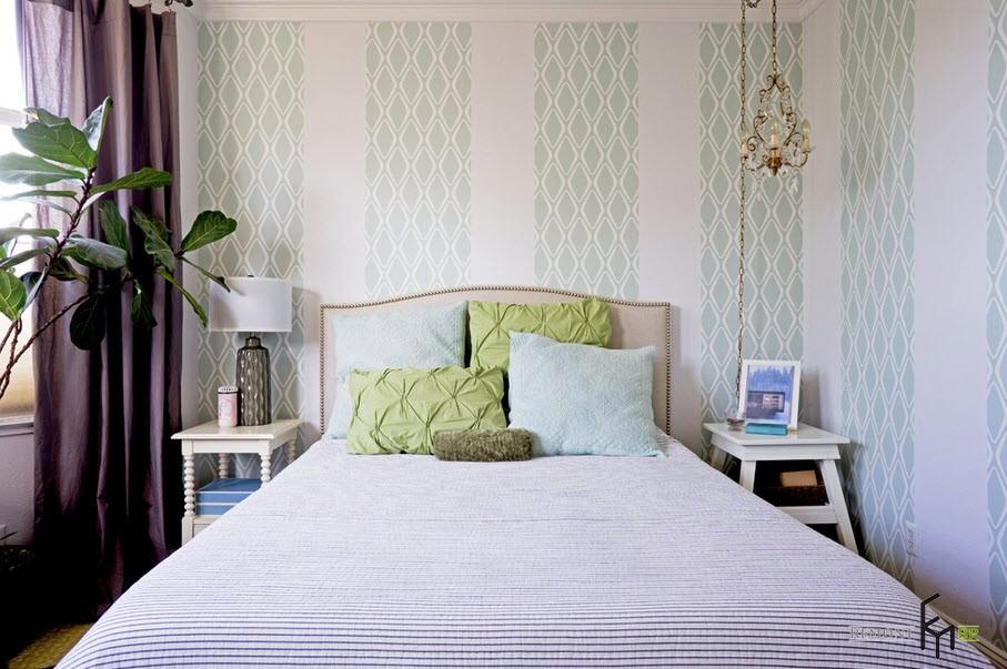 Зеленый цвет в спальной комнате