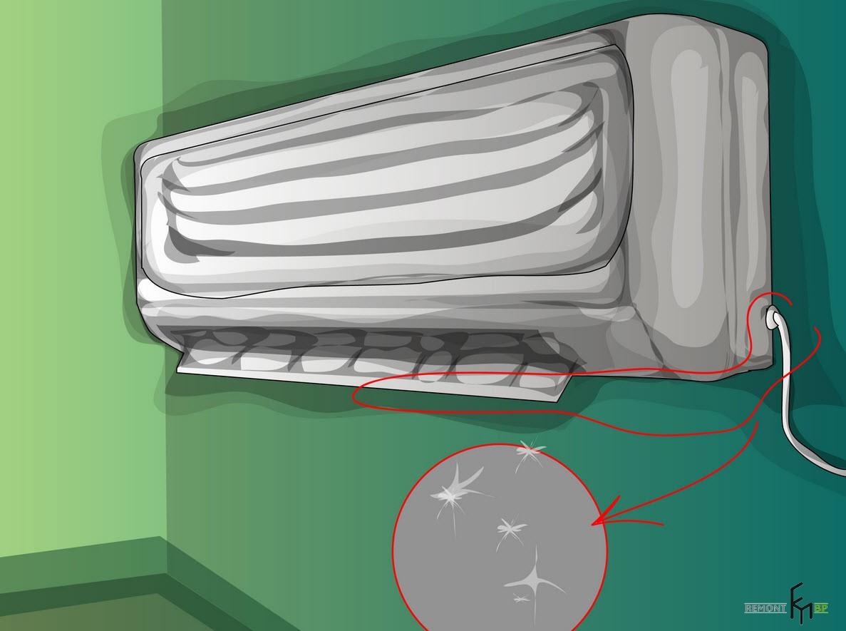 Третий способ чистки кондиционера, третий шаг