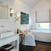 Текстильный ковер в ванной