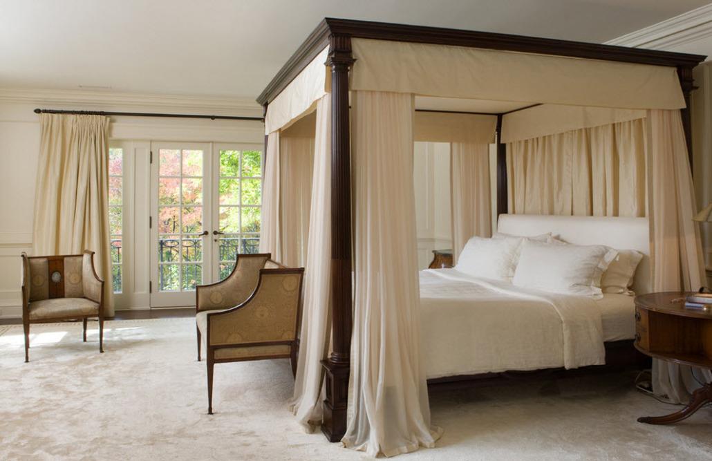 Дизайн спальни с балдахином фото