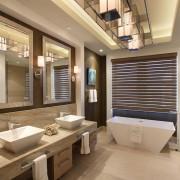Необычное освещение ванной