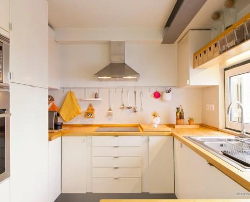 П-образная рабочая кухонная зона