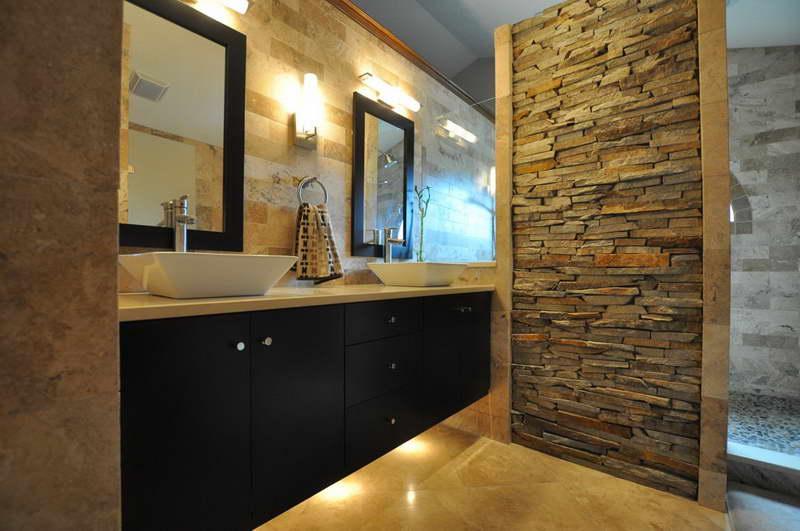 Ванная комната декоративный камень