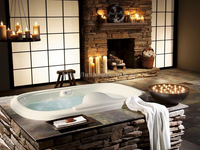 Отделка ванной комнаты камнем