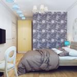 Спальня в квартире 80 кв.м.