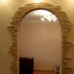 Отделка дверных проемов камнем