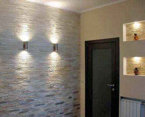 Декоративный камень в квартире, Различные способы отделки камнем