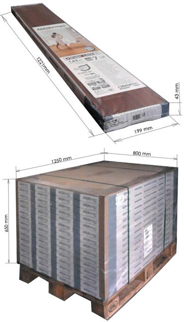 Количество ламината в упаковке