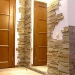 Оформление дверных проемов камнем