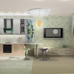 Совмещенная гостиная и кухня