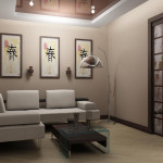 Японский стиль в зале