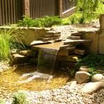 Каскадный водопад на даче