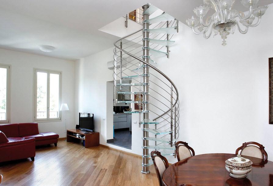 Стеклянная лестница фото в интерьере и описание