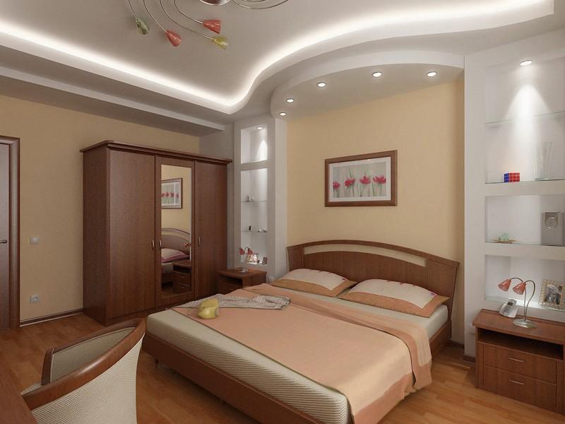 правильная организация света в спальной комнате
