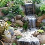 Как сделать водопад на даче