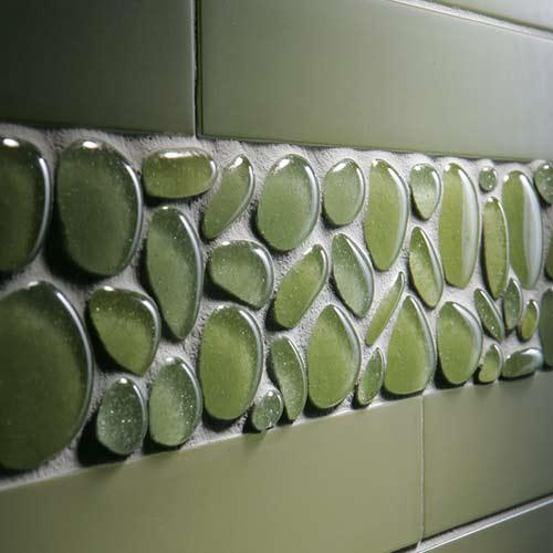 Стеклянная плитка в интерьере