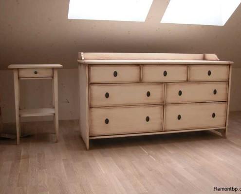 Декор мебели под старину