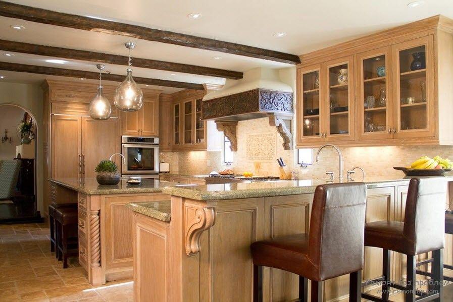 Колониальный стиль на кухне