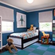 Синяя детская комната